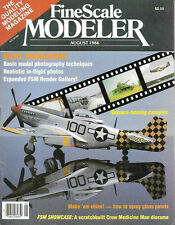 Fine Scale Modeler Aug.86 Vacuum Canopy Epoxy Casting Spray Gloss Paint Shine