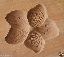 ANTIQUE JAPANESE KASHIGATA Wooden Hand Carved Cake Mold  Flower with Cover