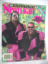 WWE / WWF SPOTLIGHT MAGAZINE VOLUME 11 HART FOUNDATION / POSTERS / VERY GOOD/ L1