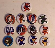 """LOT of 6 GRATEFUL DEAD Buttons Pinbacks 1.25"""" each OFFICIALLY LICENSED"""