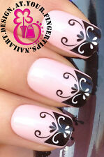 NAIL ART WRAP WATER TRANSFER DECALS STICKERS DECORATION SET SWIRL NAIL TIPS #149