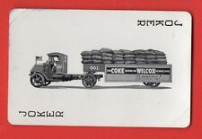 Single Swap Playing Card JOKER G11 BIG TRUCK DUSTLESS COKE WILCOX AD VINTAGE OLD