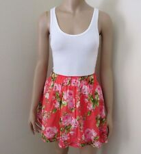 NWT Abercrombie Womens Floral Tank Top Dress Size Small Pink & White