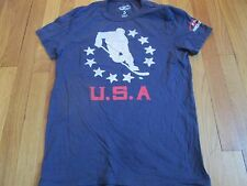 NEW USA HOCKEY TEAM RETRO BLUE T-SHIRT SIZE S usa olympics