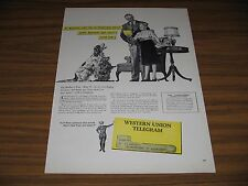 1947 Print Ad Western Union Telegrams Son Sends Mother's Day Message