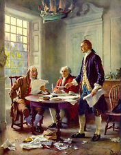 Signing of Declaration of Independence Thomas Jefferson,Benjamin Franklin,Adams