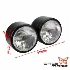 "4"" Black Twin Headlight Motorcycle Double Dual Lamp Street Fighter Universal Hot"