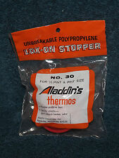 Aladdin Aladdin's Thermos Lox On Stopper Lid Top Red #30 New In Package