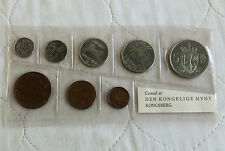 NORWAY 1970 8 COIN UNCIRCULATED MINT SET  - soft sealed pack