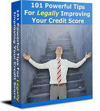 Improve Your Credit Score Legally With 101 Powerful Tips and Tricks  (CD-ROM)