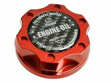 RED SYNTHETIC BILLET RACING ENGINE OIL FILLER CAP FIAT 500 / DODGE DART CF