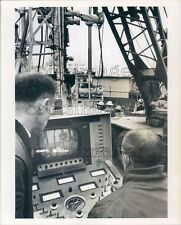 1964 Shell Oil Techs Maneuver Deep Sea Diving Robot From Console Press Photo