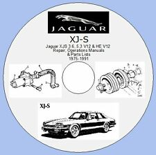 JAGUAR XJS 3.6, 5.3 V12 & HE - REPAIR,OPERATONS MANUALS & PARTS LISTS