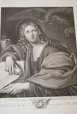 DOMINIQUE ZAMPIERI SAINT JEAN L'EVANGELISTE GRAVURE OLD PRINT 1786 BIBLE