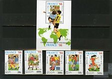 LAOS 1996 SOCCER WORLD CUP FRANCE SET OF 5 STAMPS & S/S MNH