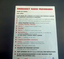 VHF EMERGENCY PROCEDURE. SAILING BOATING DISTRESS RADIO SAFETY RESCUE LIFERAFT
