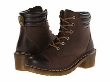 Dr. Martens Doc ANKLE BOOTS SHOES Ladies 9 EU 40 Lace Up Alexandra Brown