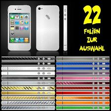 IPHONE 4S FOLIE WEISS CARBON ( BUMPER COVER HÜLLE SKIN SCHALE CASE )