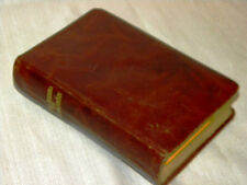 ANTIQUE PRAYER BOOK SALVATION ANCORA LEATHER COVER SACRED HEART JESUS