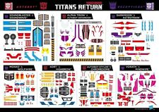 Transformers Titans Return Astrotrain Alpha Trion Soundwave Sticker NEW UK