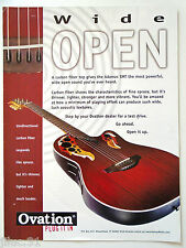"Affichette OVATION ""Wide Open"" guitare acoustique"