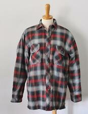Vtg 80s Dickies Plaid flannel Shirt jacket men M Grunge punk Lumberjack F01T