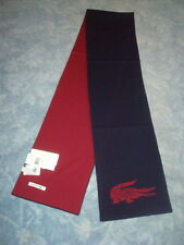 AUTHENTIC LACOSTE 100% WOOL REVERSIBLE SCARF