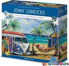 Hippy Van VW Kombi Blue Opal 1000 Piece Jigsaw Puzzle by Jenny Sanders