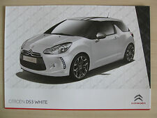 Citroen DS3 White / Black Special Editions UK Sales Brochure (2010)