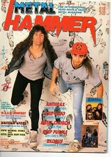METAL HAMMER 6/3/89 - ANTHRAX - SLAYER - MANOWAR