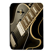Guitar Laying Down Rock Music iPad Mini 1 2 3 PU Leather Flip Case Cover
