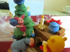 Disney Hallmark Ornament Winnie The Pooh and friends. Plays Music. Deck The Hall