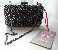 Brand New Accessorize Luxe Jewelled Hardcase Clutch Bag RRP £55 Diamante
