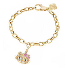 Kimora Lee Simmons Hello Kitty Sterling Silver Bracelet with Pink Sapphires and