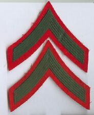 Galons de manche fond rouge : Private 1st Class - US Marines Corps