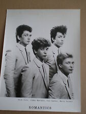 THE ROMANTICS Prom0 Press Photo 1980s FOTO DE PRENSA Powerpop