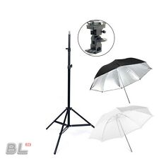 Photo Studio Photography Lighting Light Stand Mount+ Reflector White Umbrella AU