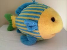 Dakin Splashy Fish Plush Toy Animal Tropical Yellow Blue 16""