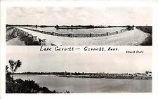 Kansas Ks Real Photo RPPC Postcard 1941 GARNETT Lake Garnett 2View Bridge