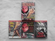 RARE 3 HORROR DVD BOXSET-R0 HOUSE BY THE CEMETERY/DRACULA & HIS BRIDES + MORE