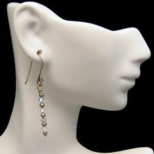 Vintage Dangle Statement Earrings Pretty AB Crystal Beads Dangles Nice Sparkle