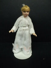 DOLLHOUSE DOLL/ PORCELAIN/ GIRL IN ROBE