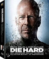 DIE HARD:25th Anniversary Collection Blu-ray,4 Movies 2 WITH VENGEANCE LIVE FREE