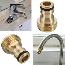 "3/4"" Brass Thread Garden Water Hose Pipe Connector Tube Fitting Tap Adaptor Tool"