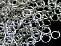 1000 x 4mm Silver Plated Open Jump ring Craft  Findings Beads Craft  U113