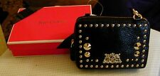 JUICY BLACK LEATHER EVENING BAG