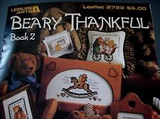 Beary Thankful - Book 2 designs by Jane Chandler, Leisure Arts Cross Stitch