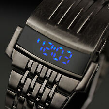 INFANTRY Mens LED Digital Wrist Watch Date Day Sport Army Black Stainless Steel