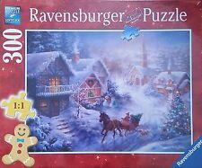 RAVENSBURGER CHRISTMAS PUZZLE*300 T*WEIHNACHTEN*SCHLITTENFAHRT DURCH DEN SCHNEE
