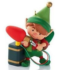 HALLMARK 2013 North Pole Tree Trimmers Christmas Boy Elf 1st in Series Ornament